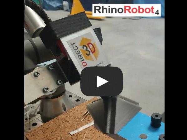 Non-planar slicing with RhinoRobot